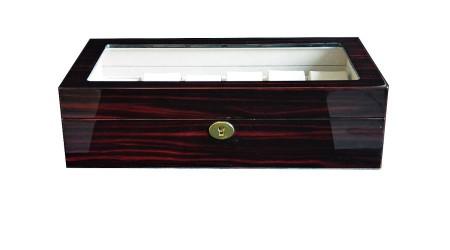 GC02-LG3-12EX Fényes mahagóni fa óratartó doboz 12 db órához