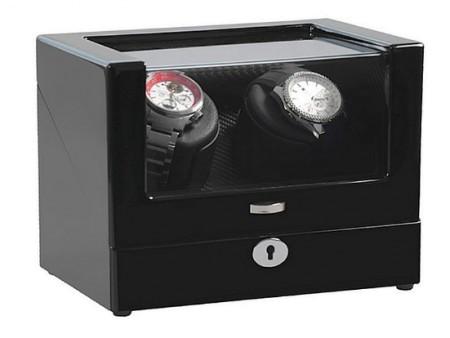 Fekete színű óraforgató két darab órához