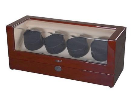 Mahagóni színű óraforgató négy darab órához